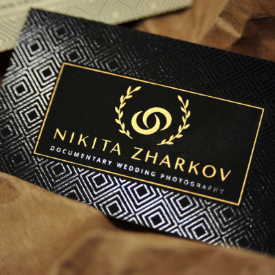 Business card Silk & Digital printing